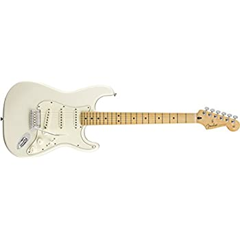Amazon.com: Fender Player Stratocaster Electric Guitar - Maple Fingerboard - Polar White: Musical Instruments