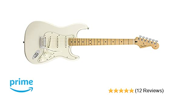 Amazon.com: Fender Player Stratocaster Electric Guitar - Maple ...