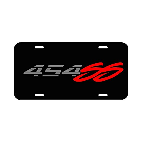 454 Ss Black Aluminum License Plate Tag 454 Ss Chevrolet Chevy