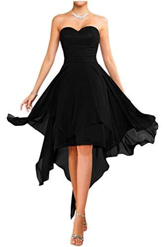 Cocktailkleider Einfach Farbe Viel La Mia Partykleider Chiffon Heimkehr Rot Kurz Brautjungfernkleider Tanzenkleider Schwarz xIqZZErYXw