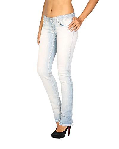 Para Mpw006 Skinny Meltin'pot Fit Azul Jeans vaquero Mujer qwfaRvO