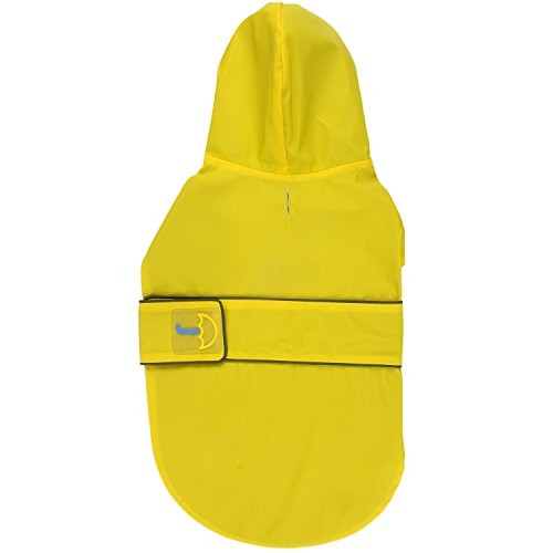 Jelly Wellies Premium Quality Waterproof Reflective Classic Raincoat for Dogs- Medium, Yellow by American Kennel Club