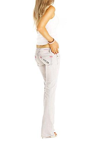 Low donna da Bestyledberlin Grigio Rise Jeans jeans j37agrau Jeans donna qfwAB