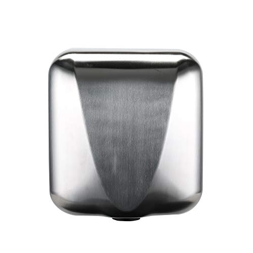Commercial Bathroom Hand Dryer, Polished Stainless Steel Shell, Powerful 1800W - Dry Hands in 10s, Low Noise 70 dB, Set of 1 (Hand Commercial Dryer)