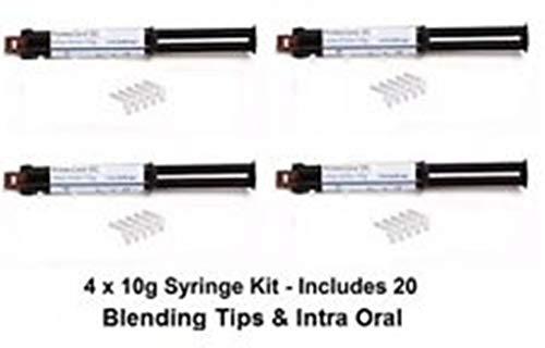 Prime Dent Dental Core Build Up Material 4 x 10g Syringe Kit A2-003-080 - USA
