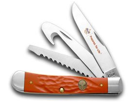 Case Cutlery 7995 Boy Scouts of America Hunter Trapper Rough Red Synthetic Handle by Case