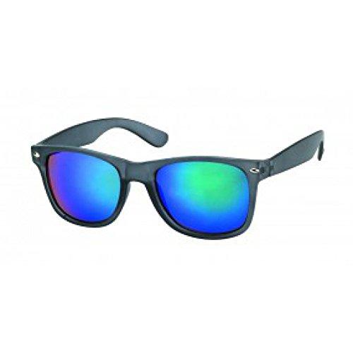 Nerd Glasses Gafas de sol gris colorido 400 UV Wayfarer azul verde reflectante