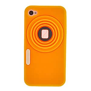 Vintage Camera Style Silicone Protective Case for iPhone 4/4S(Assorted Color) , Purple