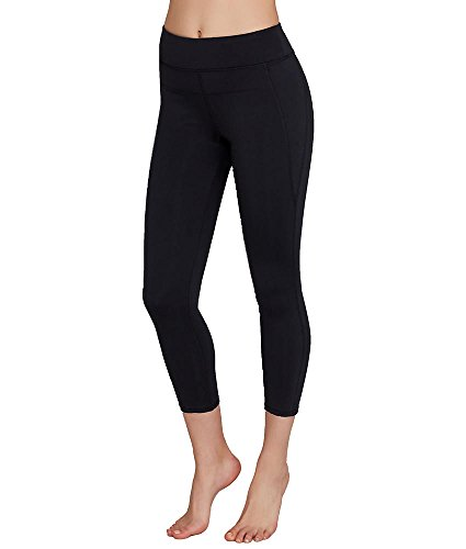 Calvin Klein Performance Women's Compression Panel Wide Waistband Ankle Legging, Black, Large
