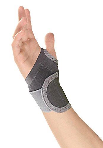 Healthgenie Wrist Brace With Thumb Elastic Grey