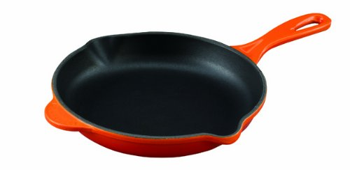 Le Creuset Enameled Cast-Iron 6-1/3-Inch Skillet with Iron Handle, Flame by Le Creuset