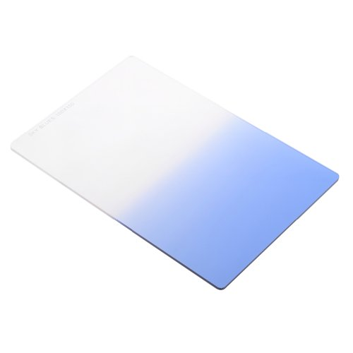 Neewer 100x150mm Graduated Sky Blue Color Square Lens Filter Compatible with Cokin Z Series