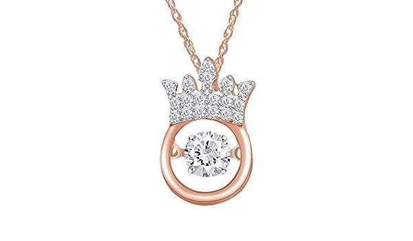 Wishrocks Aquamarine /& Cubic Zirconia Halo Circle Pendant Necklace Sterling Silver