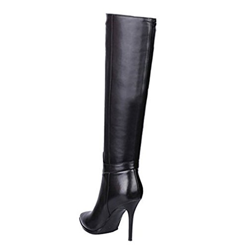 MERUMOTE , Bottes hauteur genoux femme - Noir - noir, 39