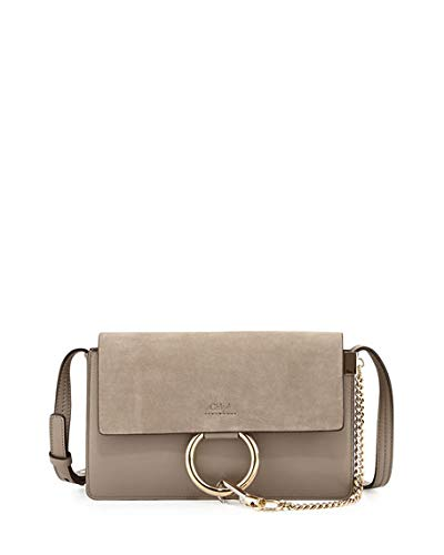 f200fd4a6 Image Unavailable. Image not available for. Color: Chloe Faye Small Suede  Shoulder Bag made in Spain