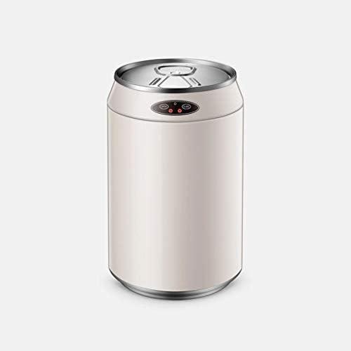 キッチンゴミ箱 蓋付きの自動タッチレスモーションセンサーごみ箱、ステンレス鋼は、円筒状の飲み物は、6L、9L、12L(ラウンド、白)を整形することができます ごみ収集 (サイズ : 12L)