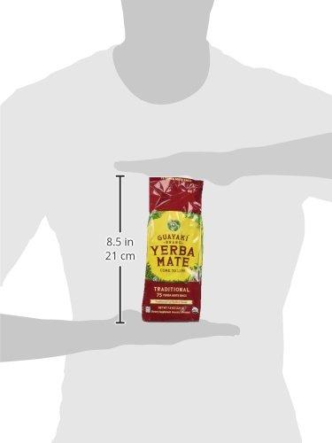 Guayaki Traditional Yerba Mate, 75 Tea Bags 7.9oz (Pack of 2) 5 Item Package Length: 7.112cm Item Package Width: 9.652cm Item Package Height: 31.496cm