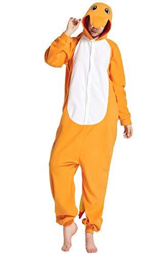 URVIP Unisex Halloween Hooded Pajamas Animal Cosplay Cartoon One-Piece Costumes Dragon M (Replica One Piece)
