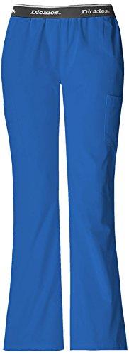 Hip Flip Scrub (Dickies 853202 Women's Hip Flip Cargo Flare Leg Scrub Pant Royal X-Large)