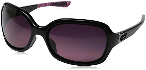 Oakley Womens Pulse Polarized Sunglasses, Polished Black/Smokey O/Rose (Ladies Oakley Sunglasses)
