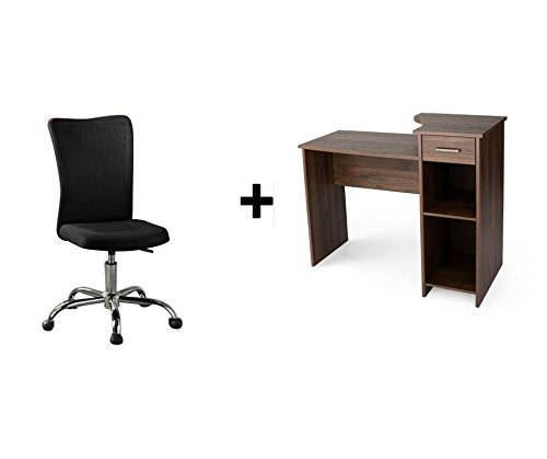 Mainstays学生デスク B076B8B3YY Walnut and Task Chair Walnut and Task Chair