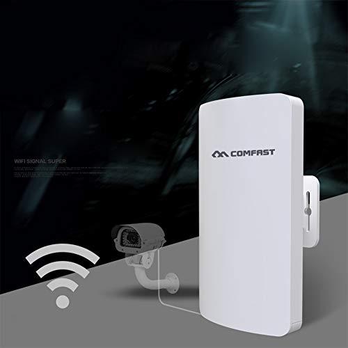 Ocamo COMFAST WiFi Router Mini CPE 1 – 2 km 300 mbps Router Bridge Outdoor WiFi Repetidor de Larga Gama IP cámara Proyecto