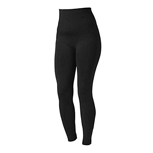 Boob Design - Sports Leggings for Active Women - Post Pregnacy - Maternity - Sustainable Material (Small/Medium) Black (Best Place To Live In Stockholm)