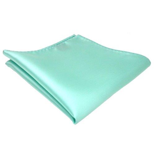 TigerTie pochette helles mint vert unicolor - tissu 100% Polyester