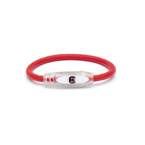 (NCAA South Carolina Gamecocks Active Wristband, Red, Large)