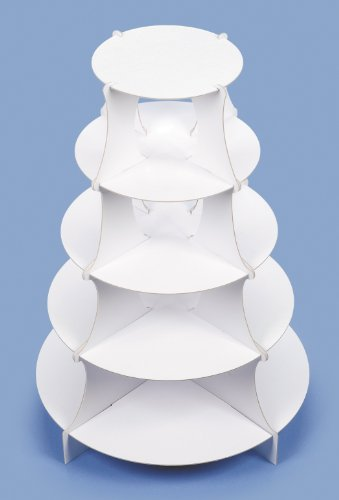 5 Tier Round Paper Dessert Tower or Cupcake