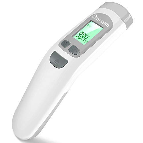 Berrcom Baby Infrared Forehead Thermometer, FDA Approved Medical Grade Non Contact Thermometer for Kids, Infants,Toddlers, Child, Adults, Nurses. Digital Cold, Flu, Fever Thermometer