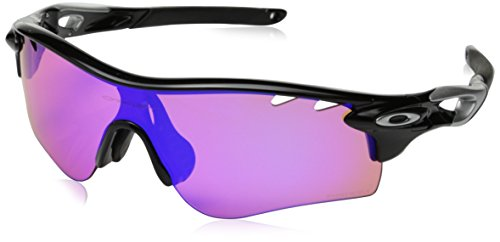 Oakley Men's Radarlock Path OO9206-28 Asia Fit Shield Sunglasses, Polished Black, 132 - Sunglasses Oakley Customized