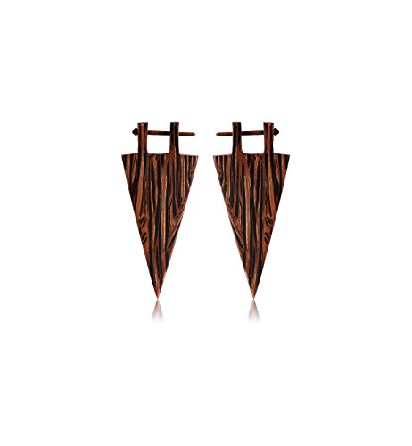 Wood Earrings Palm (Bubble Tribal Wood Earrings Palm Color Jewelry Earrings)