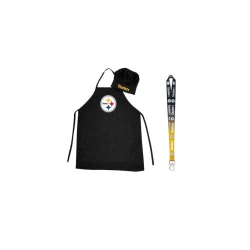 - Pro Specialties Group NFL Barbeque Apron, Chef's Hat and Bottle Opener Gift Set (Pittsburgh Steelers)