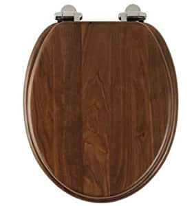 Roper Rhodes Traditional Walnut Toilet Seat With Soft