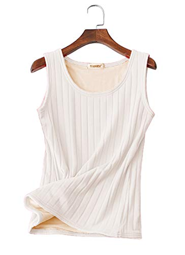 Women's Cold Weather Thermal Camisole Basic Solid Color Fleece Lined Tank Top