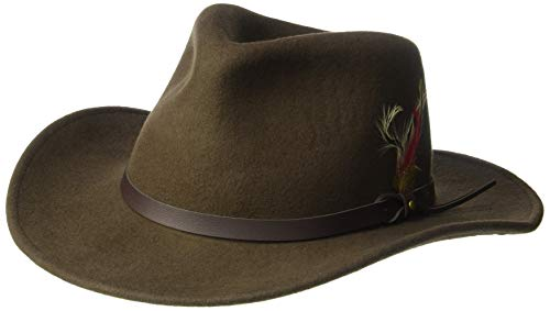 d5ef6a99b19002 Men's Outback Wool Cowboy Hat |Montana Black Crushable Western Felt by Silver  Canyon
