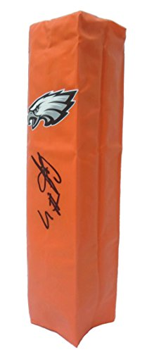Philadelphia Eagles Alshon Jeffery Autographed Hand Signed Full Size Logo Football Touchdown End Zone Pylon with Proof Photo and COA