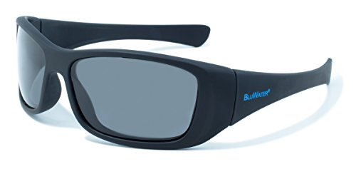BluWater Polarized Paddle Series Sunglasses with Black Frames and Gray Lenses by BluWater Polarized