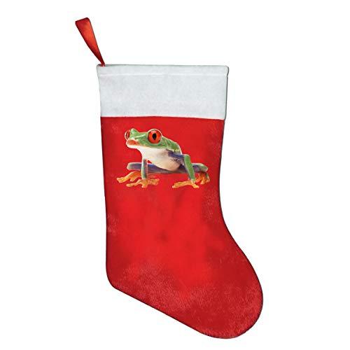 RobotDayUpUP Frog Christmas Santa Stocking Decorations and Toys Stock