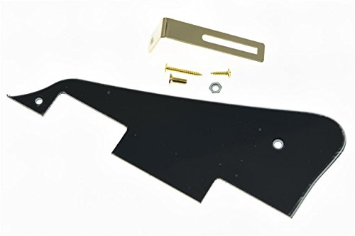 3-Ply Pickguard and Pickguard Bracket For LP Guitar Black - 3