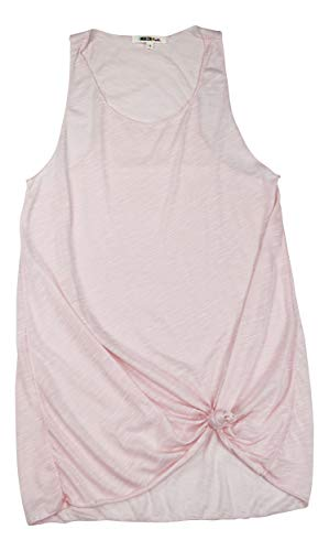 Miken Tie Front Racerback Cover-Up Tank Dress (Lotus Pink, Large)