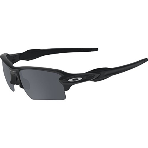 Oakley Men's Flak 2.0 XL OO9188-01 Rectangular Sunglasses, Matte Black, 59 mm