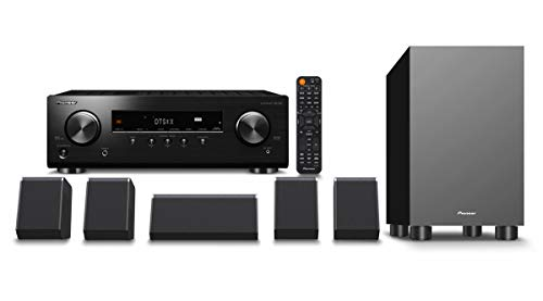 Pioneer HTP-076 Home Theater Package with 5.2-Channel AV Receiver, 5 Speakers, 1 Subwoofer, Dolby Atmos, DTS:X, Dolby…