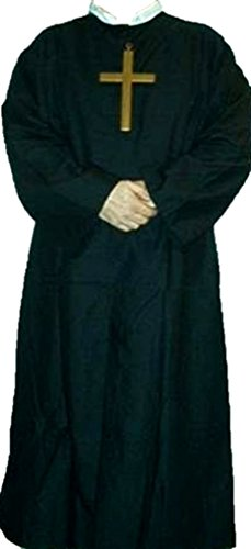 [Deluxe Father Guiseppe Priest Costume - Adult Std.] (Priest Halloween Costume Deluxe)