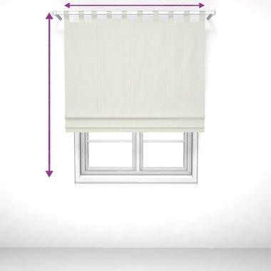 saustark design roman blind with loops in by manchen munich white gmbh munchen
