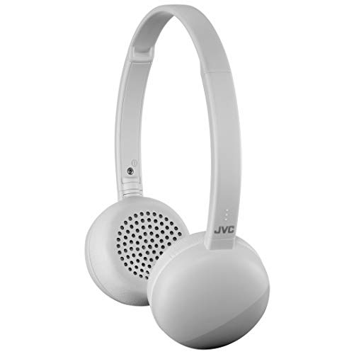 JVC Flats Wireless On Ear Headphones, Light Weight, 11 Hours Long Battery Life – HAS20BTH (Gray)