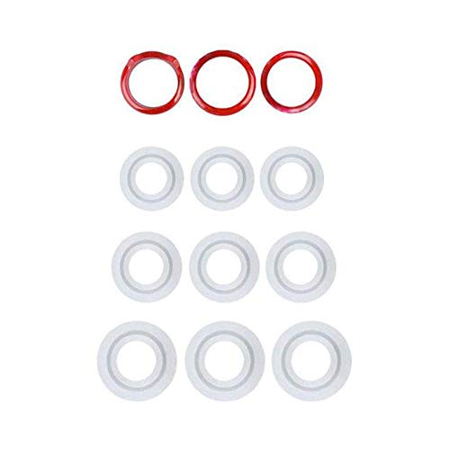 Silicone Ring Mold, Dyaipet 9Pcs Resin Epoxy Mold, Ring Pendant Casting Circle Mould for DIY Jewelry & Craft Making (3 Types, 16mm/17mm/18mm)