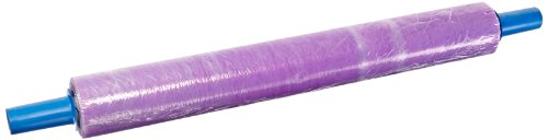 Goodwrappers BN301000 Linear Low Density Polyethylene Purple Tint Blown Hand Stretch Wrap with Built-In Dispenser and Hand Brakes, 1000' Length x 30'' Width x 80 Gauge Thick (Case of 4) by Goodwrappers