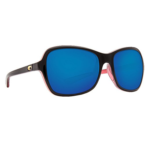 Costa Del Mar KAR132OBMP Kare Sunglass, Shiny Black Hibiscus Blue - Costa Sunglasses Youth
